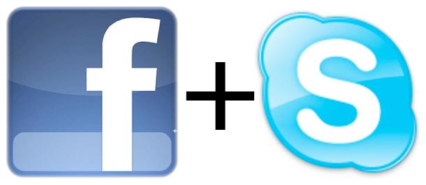 Facebook und Skype, Credit: Facebook, Skype