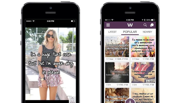 Die Whisper-App für iPhone und Android. © WhisperText LLC