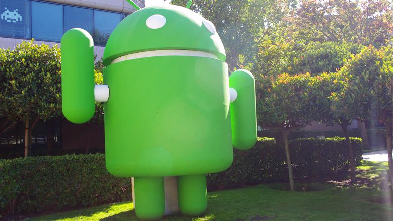 Das Android-Maskottchen im Google-Hauptquartier in Mountain View, Kalifornien. © Jakob Steinschaden