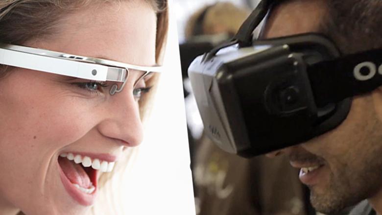 Google Glass und Oculus Rift von Facebook: Zwei unterschiedliche Konzepte, ähnliche Ziele. © Google, Oculus VR