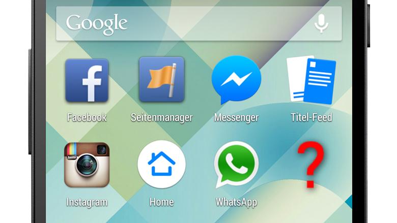 Haupt-App, Page-Manager, Messenger, Instagram, Home und WhatsApp: Was kommt jetzt? © Google, Facebook, Montage: Jakob Steinschaden