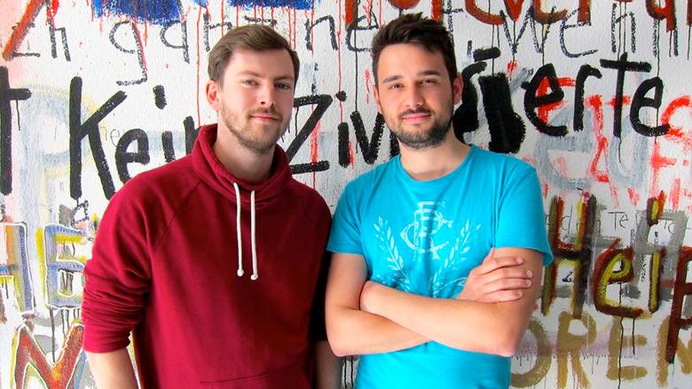 Das Duo David Pichsenmeister und Bernhard Hauser hat orat.io 2012 gegründet. © orat.io