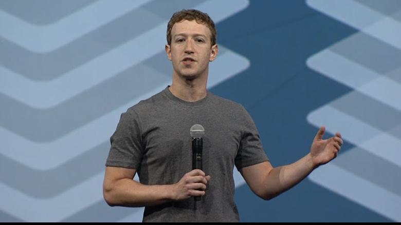 Mark Zuckerberg auf der hauseigenen Konferenz f8. © Facebook