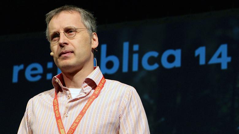 Viktor Mayer-Schönberger vom Oxford Internet Institute auf der re:publica 2014. © Jakob Steinschaden