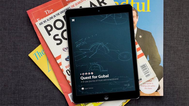 Am iPad will Medium am liebsten wie ein Magazin gelesen werden. © Medium