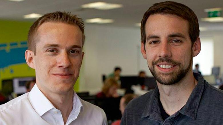 Die SwiftKey-Gründer Jon Reynolds (CEO)  und Ben Medlock (CTO). © TouchType