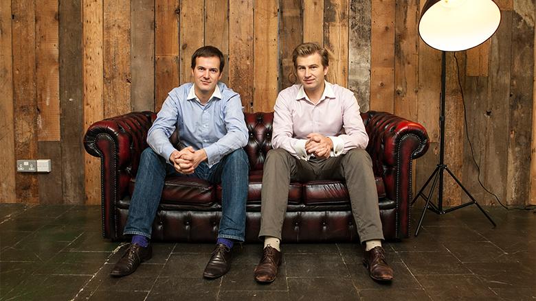 Taavet Hinrikus und Kristo Käärmann haben TransferWise 2011 gestartet. © TransferWise