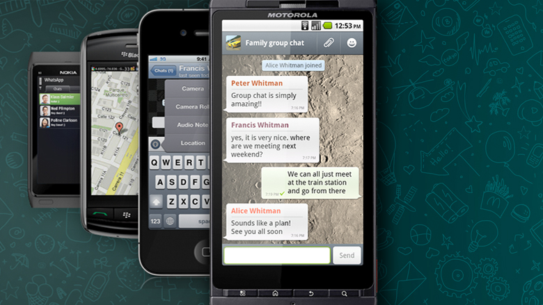 Auf möglichst vielen Smartphones installiert sein - das Ziel von WhatsApp. © WhatsApp