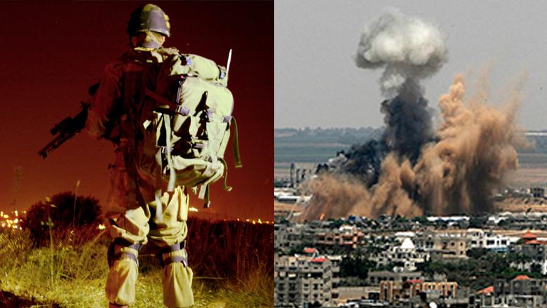 Propagandabilder von IDF (links) und Kassam-Brigaden (rechts). © IDF, www.qassam.ps
