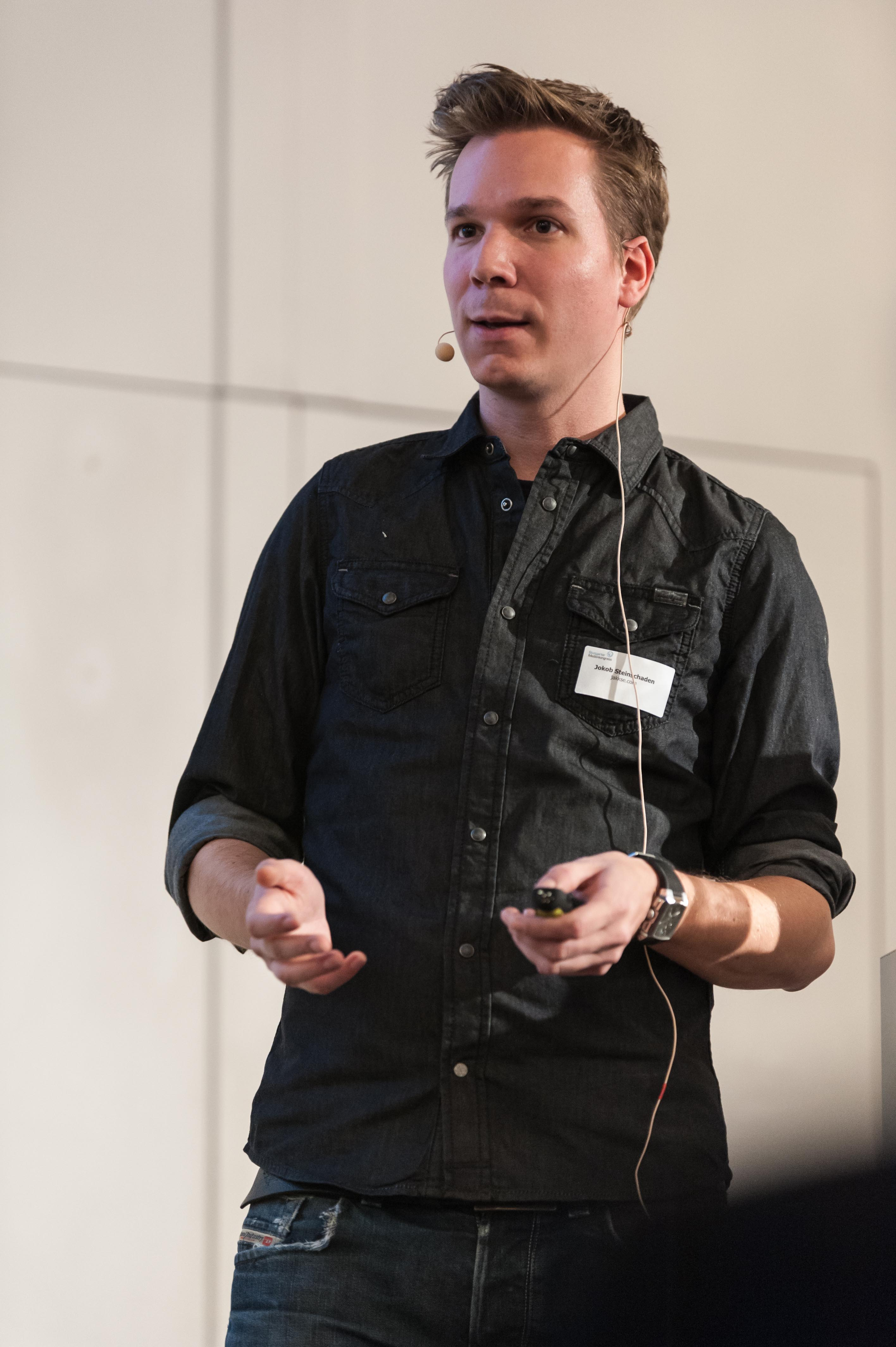 Jakob Steinschaden am Stuttgarter Medienkongress. © Clemens Hess