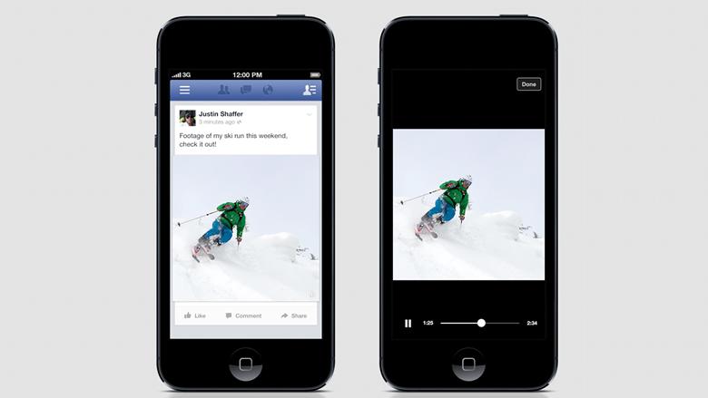Für ganz Faule: Facebook-Videos fangen automatisch zu laufen an. © Facebook